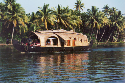 Houseboat in the Keralan Backwaters