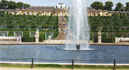 The Palace of Sanssouci in Potsdam